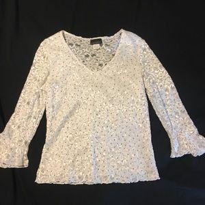 Tiffany Black women's blouse shirt top